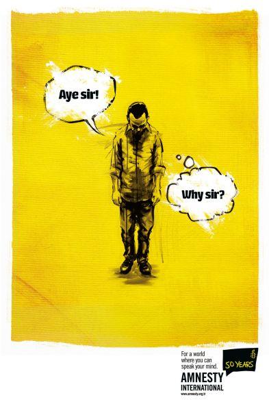 Amnesty International系列创意宣传广告欣赏