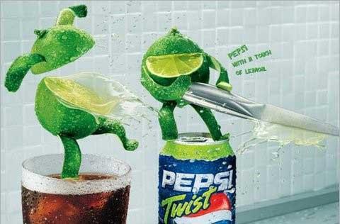 百事清柠(PEPSI Twist)系列精彩创意广告欣赏