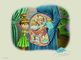 TiJi电视儿童广告插画招贴设计