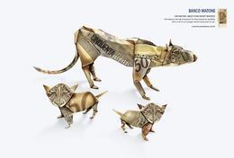 折紙篇銀行創意廣告設計