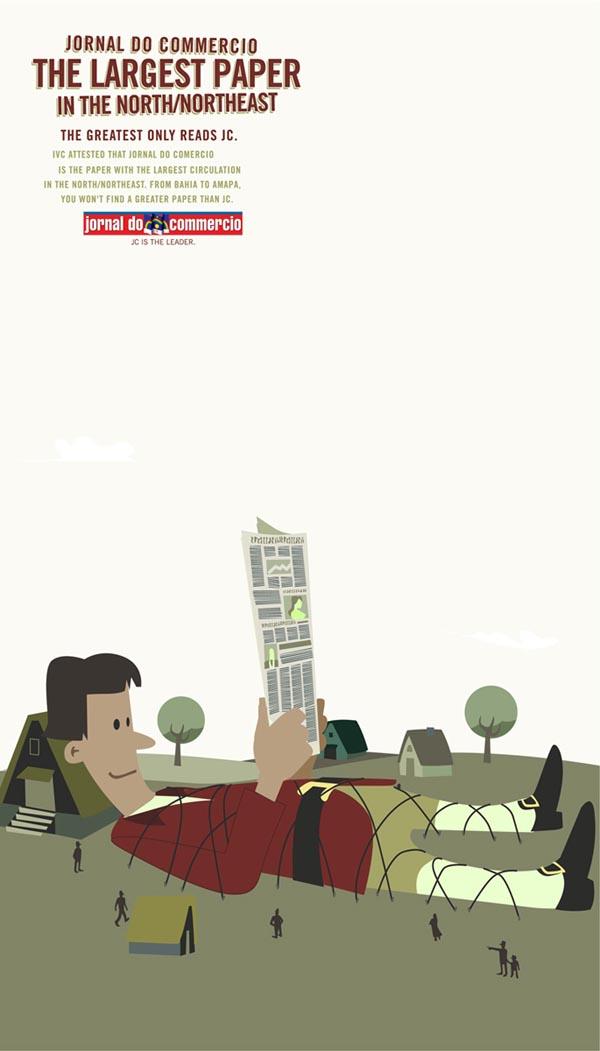 精彩国外插画风格创意广告