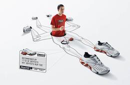 Fila运动鞋经典广告创意