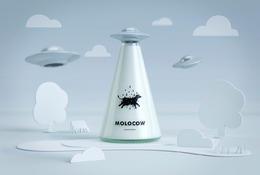 Molocow牛奶飛碟概念包裝設計