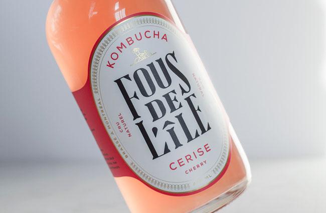 Kombucha发酵茶饮料瓶贴设计
