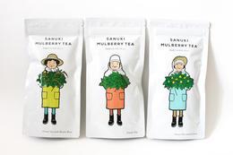 親切討喜的采茶婦女 茶葉包裝