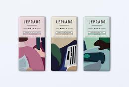以法國諺語 Métro, boulot, dodo 為插畫主題的巧克力包裝