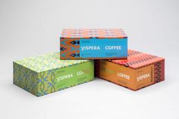 繽紛圖樣的 Vispera Coffee 包裝