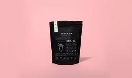 時尚粉紅的健康奶昔包裝