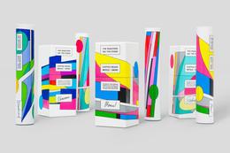 現代藝術感的咖啡豆包裝