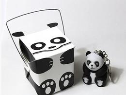 打開後嚇死人的熊貓鑰匙圈包裝