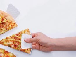 不弄髒手的披薩包裝
