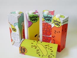 juice up! 構圖活潑的插畫風包裝