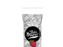 黑白手繪風的水果冰棒袋