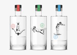 插畫跳水者 瓶裝設計