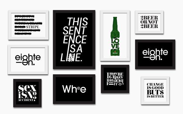 喜力啤酒创意包装与字体