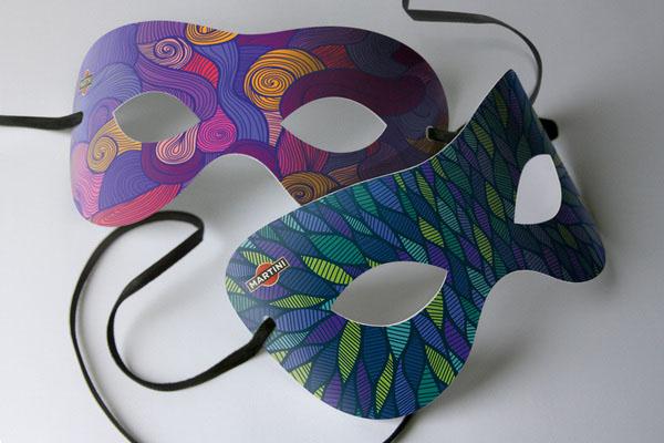 MARTINI馬天尼雞尾酒系列面具創意包裝