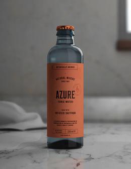 Azure汤利水瓶贴包装设计欣赏