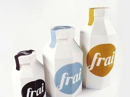 简约风格的Frai牛奶包装欣赏