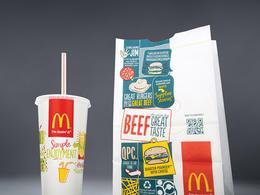 麦当劳全新二维码包装包装设计欣赏