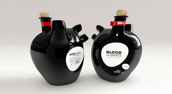 葡萄之血(blood of grapes)红葡萄酒酒瓶设计