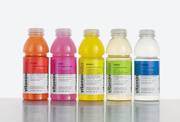 Smart water維他命水系列瓶貼包裝設計欣賞