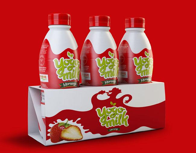 巴西YogoMilk酸奶包装包装设计欣赏