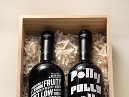 The Polly Bottles葡萄酒字體排版包裝設計