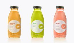 LCNR系列健康饮品瓶贴包装设计欣赏