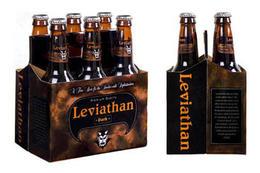 leviathan黑啤酒包装与瓶贴设计