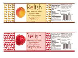Relish美味果类罐头系列瓶贴