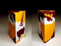 一个风格突出的三角形包装盒