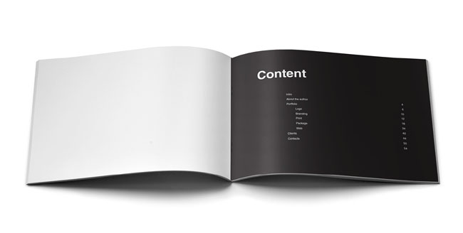 简洁的creative portfolio创意设计作品集