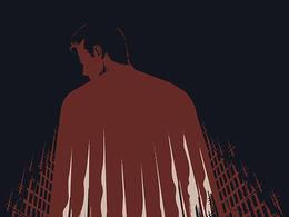 英国TommyPocket设计的《蝙蝠侠大战超人》电影海报