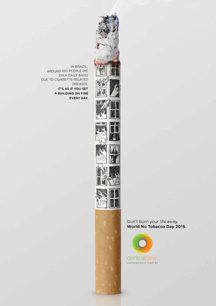 2015巴西central clinic世界无烟日公益海报欣赏