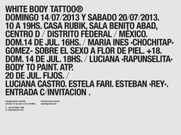 墨西哥White body tattoo紋身展覽極簡宣傳海報