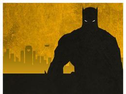 一組極簡風格超級英雄主題海報設計