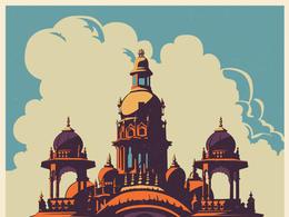 印度古典風格的旅游海報欣賞