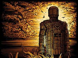 英国Dark City Gallery限量版丝网印刷海报