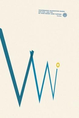 大眾Think blue簡潔環保海報