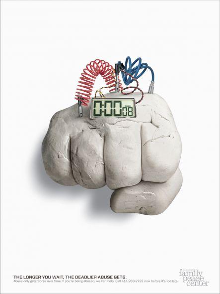 美国防治家庭暴力公益海报设计