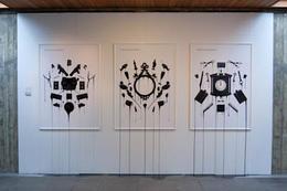 黑色系列墙面海报创意组合