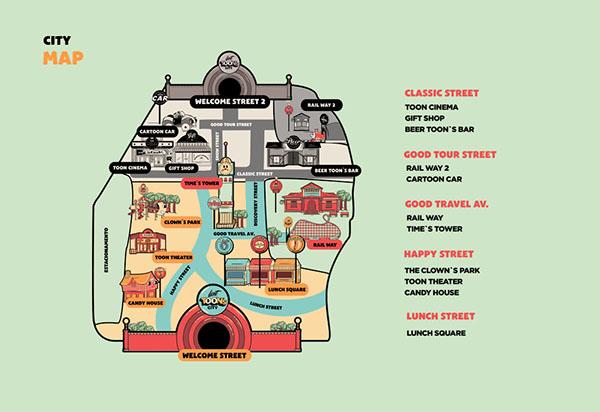 Lost Toon's City游乐场VI形象设计