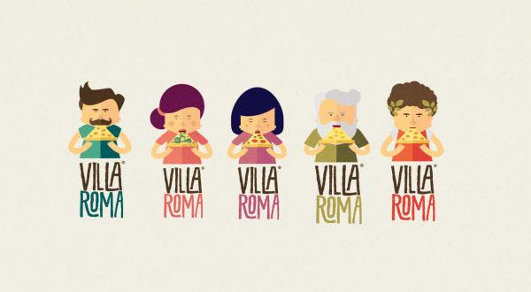 Villa Roma比薩優秀視覺形象設計