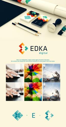 巴塞罗那EDKA创意机构VI形象设计