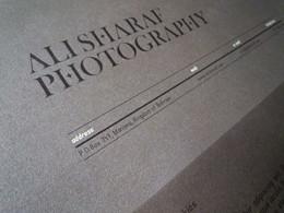 自由職業攝影師Ali Sharaf個人形象設計選刊