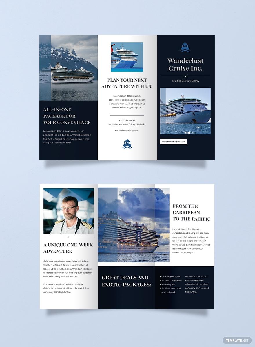 旅行社游轮三折页设计欣赏