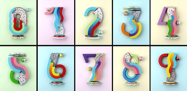 Muokkaa创意数字字体设计作品