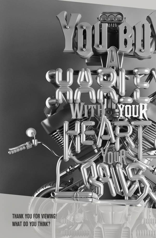南非Katlego Phatlane精彩3D字体设计
