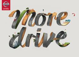 "澳大利亚Nissan ""More Drive""创意字体设计"