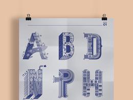 一組優秀的裝飾字體海報欣賞